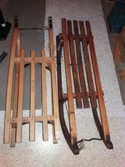 Schlitten - Holzschlitten