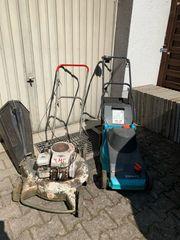 2 Rasenmäher Benzinrasenmäher Elektrorasenmäher abzugeben