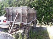 Holzwagen Pferdeholzwagen Holzanhänger