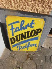 Altes Dunlop Emailleschild