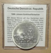 10 Mark Münze DDR 1989