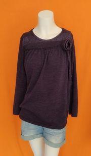 grauer Damen Pullover Vintage glitzert