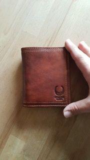 Ledergeldtasche mit RFID Blocker