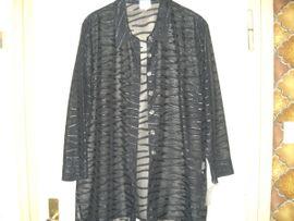 Damenbekleidung - schwarze neue exklusive transparente Bluse