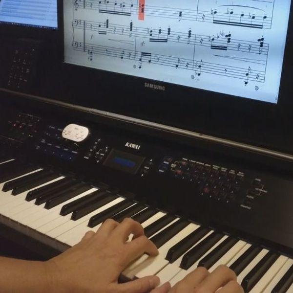 Klavier lernen - überall in D