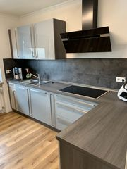 L-Küche und Küchenblock