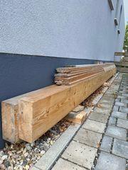 2x Holzbalken Dachbalken 520x25x10cm