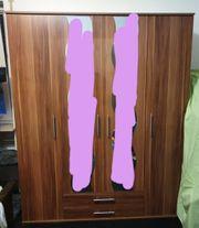 Kleiderschrank Set in Nussbaumoptik