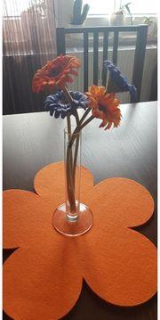 Frühlingsdeko Deko Vase orange blau