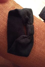 2 Haarband schwarz und weiss