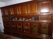 Wohnzimmerschrank antik Nussbaum B 325cm