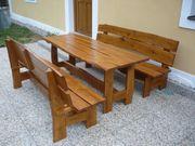 Ich verkaufe das rustikale Gartenmöbel