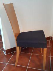 7x Stühle zeitloses Design Buche