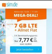 Mega Deal 7GB LTE Allnet