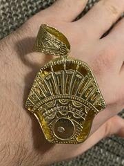 UNIKAT Anhänger Pharao 585 Gold