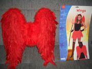 Neue Karneval Fasching Flügel rot