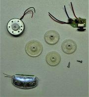 Lämpchen Zahnrädchen Schalter und Motor