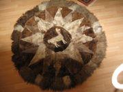 Lama Patchwork-Teppich aus Peru