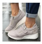 Bequeme Schuhe in hellgrau mit