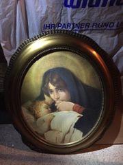 Bild Madonna mit Kind oval