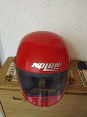 Moped Helm in rot gebraucht