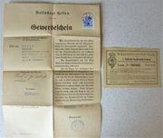 antike Dokumente von 1900 und