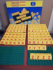 Lern Spielsteine Großbuchstaben