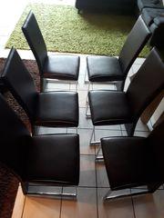 Esszimmer Stühle 6x Leder Farbe