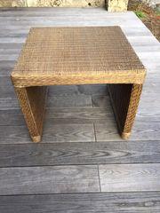 2x Beistelltisch Rattan auf Holz