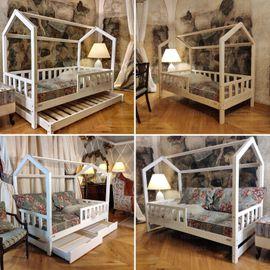 Hausbett Doppelbett aus Holz für: Kleinanzeigen aus Frankfurt Bockenheim - Rubrik Laufställe, Hochstühle, Zubehör