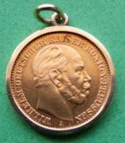 20 Gold-Mark von 1872 Wilhelm