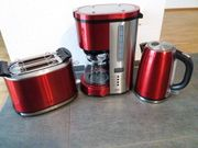 Kaffemaschine Wasserkocher Toaster Designkombination