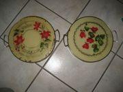 2 uralte Kuchenplatten Tortenplatten Platten