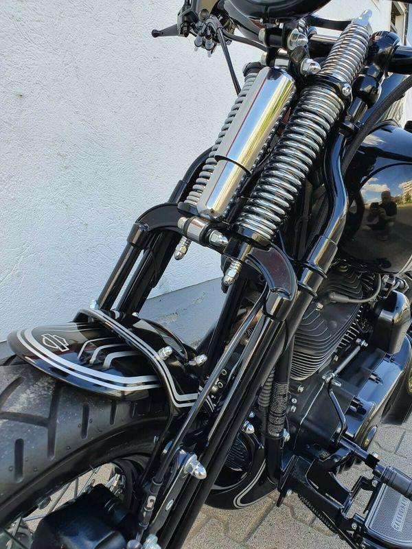 Harley-Davidson Springer Umbau - Cross Bones