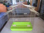 Vogelkäfig Käfig Voliere Messing groß
