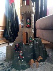 Playmobil Turm auf Berghöhle mit