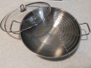 wok silit edelstahl deckel gitter