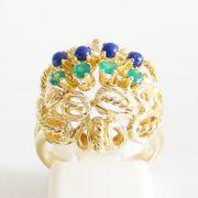 Ring Gold 750er LapisLazuli Gruenachat