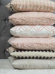 Dekokissen Tropfenmuster rosa-braun 45 x
