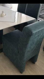 Esstisch Stühle blau