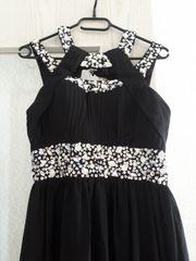 schwarzes langes Abendkleid Chiffon