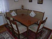 Eckbank 6 Stühle Esstisch mit