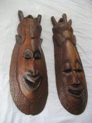 Holzmasken Afrika handgeschnitzt Ghana