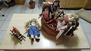 Porzellan Puppen Püppchen und Harlekins