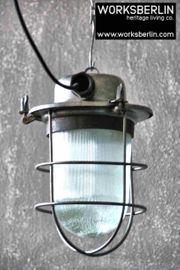 1 25 Alte aufgearbeitete Fabriklampen