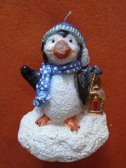 Kerze Pinguin mit Laterne 16