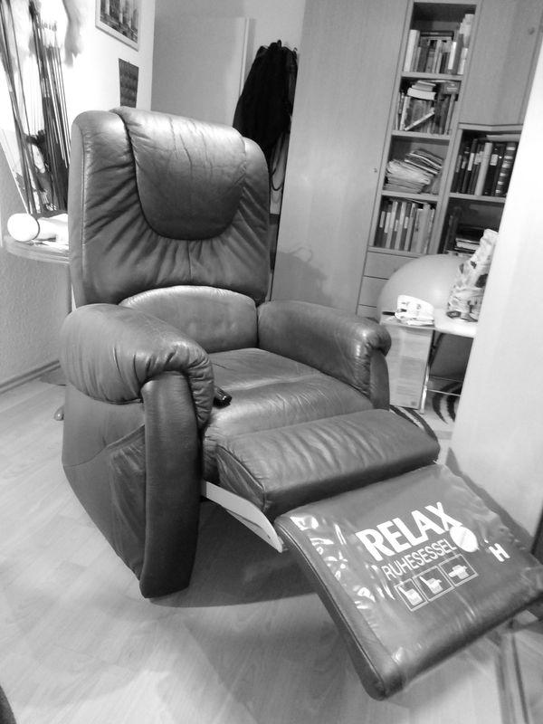 TV- Relaxe Sessel Leder bordeaux