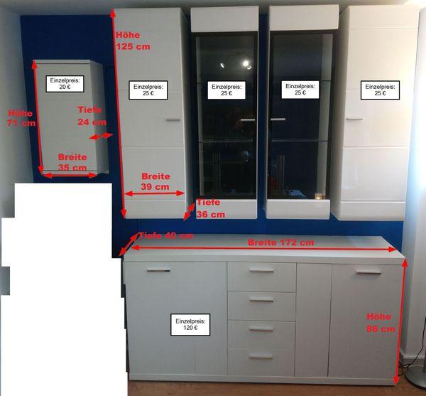 Bürowand zusammengestellt auch einzeln abholbar