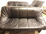 3-teilige Sitzgruppe aus Leder Couch