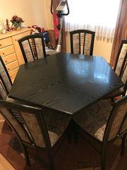 Esszimmer Tisch 6 Stühle und